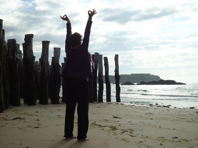 Sur la plage de Saint Malo!