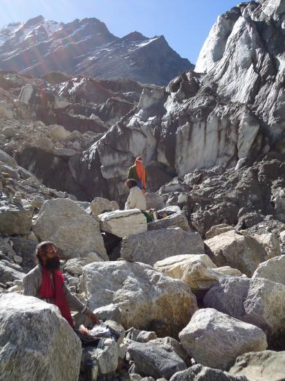 le glacier de Gaumukh